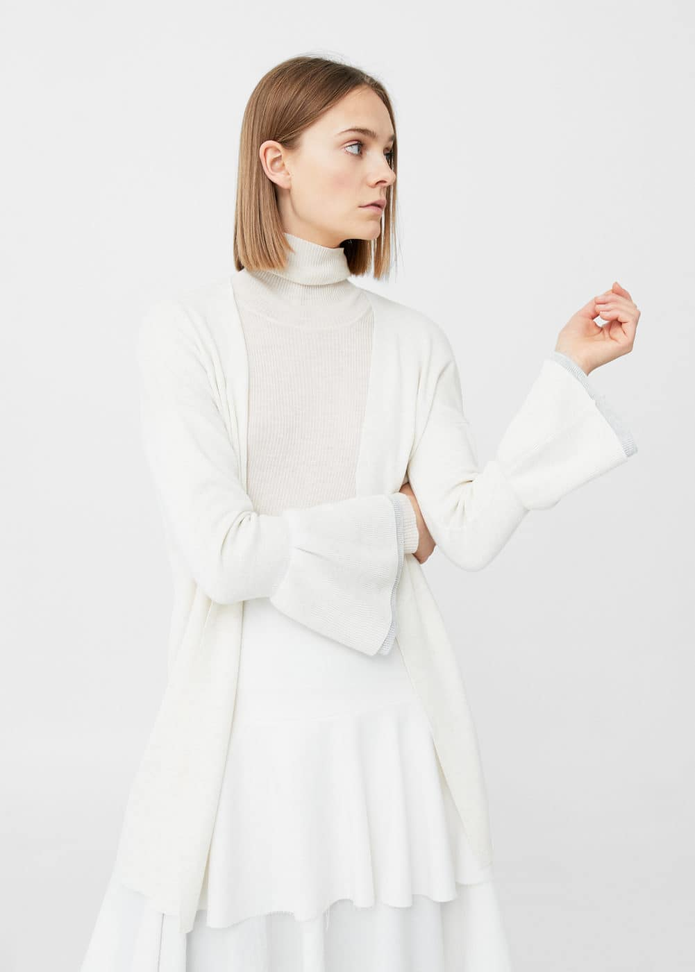 Flared sleeve cardigan | MANGO