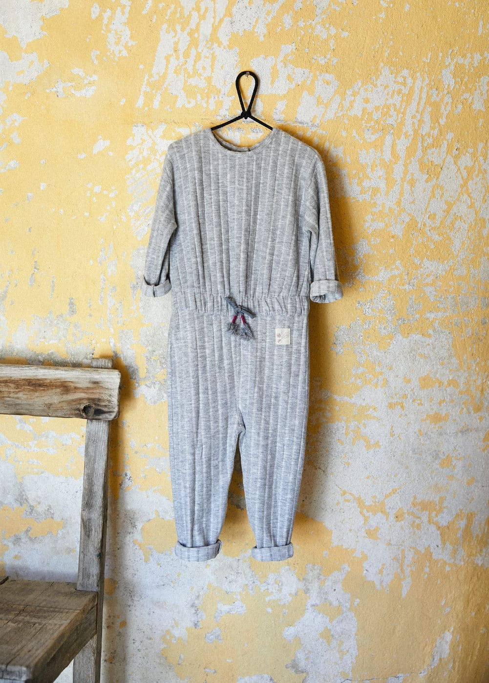 Textured long jumpsuit | MANGO