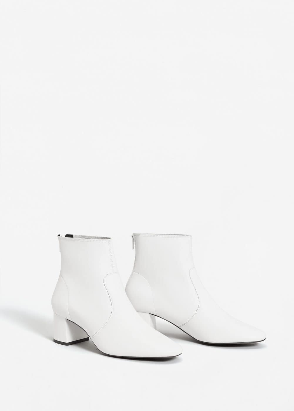 Heel leather ankle boot | MANGO