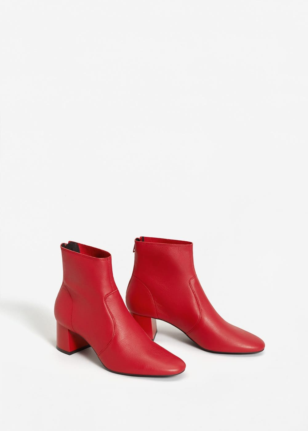 Bottines cuir à talon | MANGO