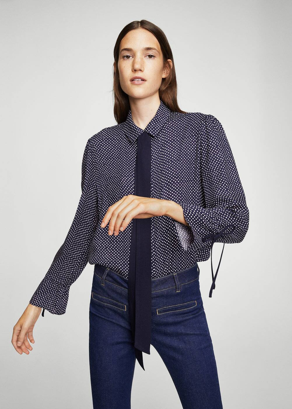 Bow printed shirt | MANGO