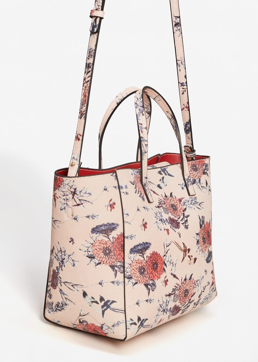 Printed saffiano-effect bag | MANGO