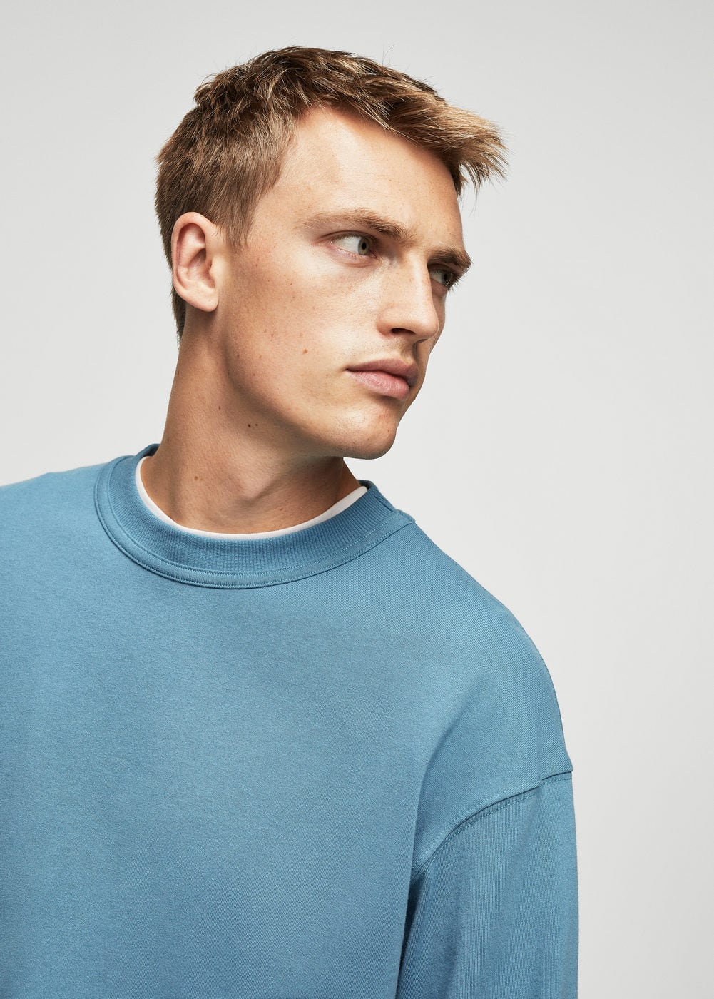Cotton sweatshirt | MANGO MAN