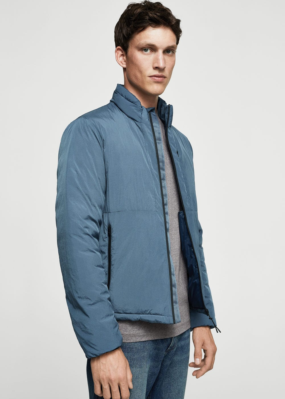 Nylon-blend quilted jacket | MANGO