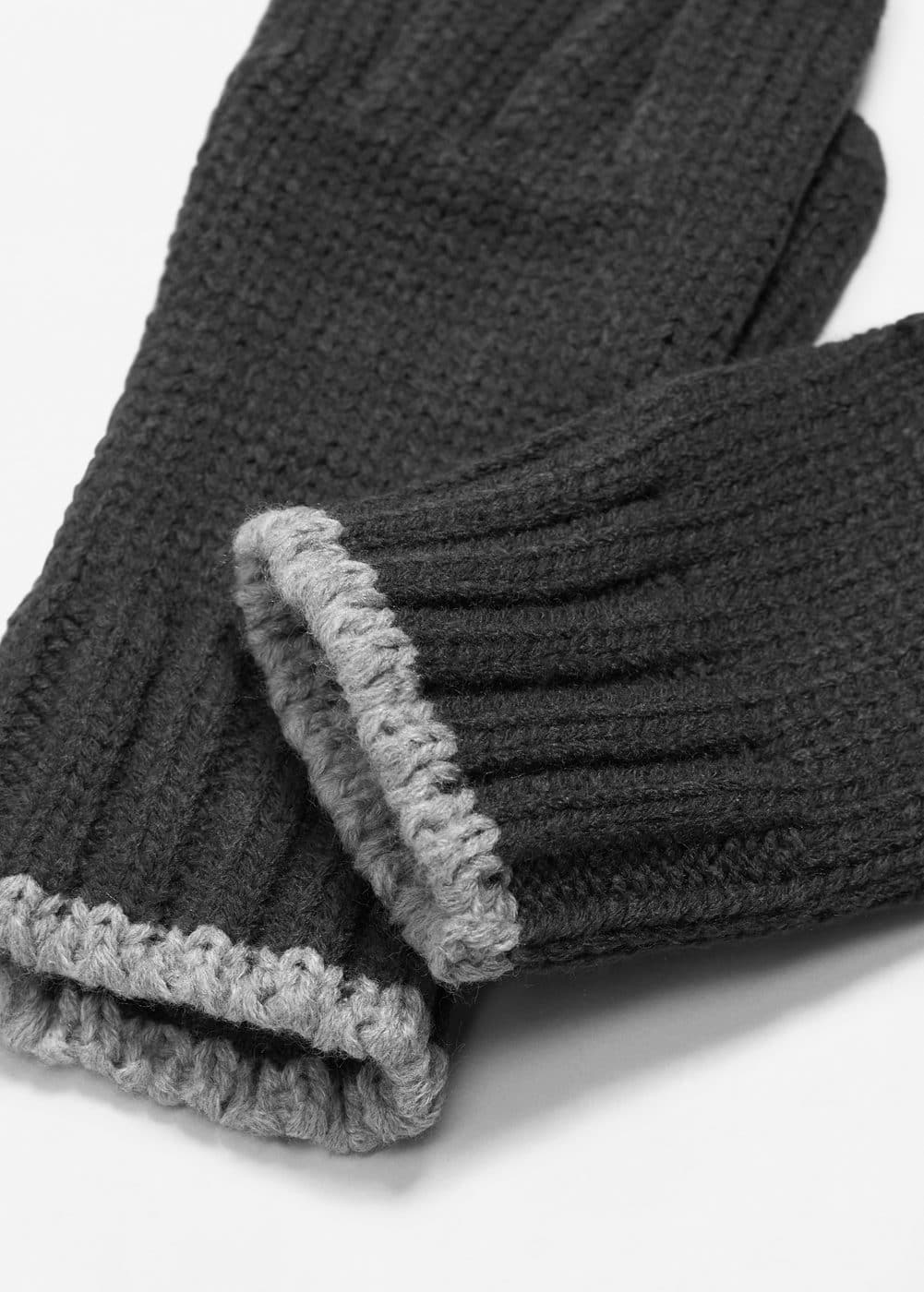 Ribbed knit gloves | MANGO
