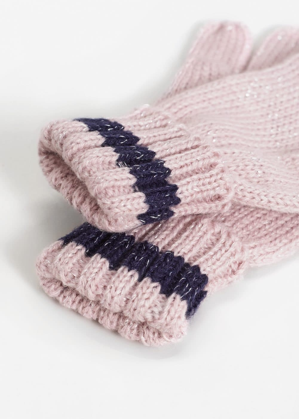Metallic thread knitted gloves | MANGO