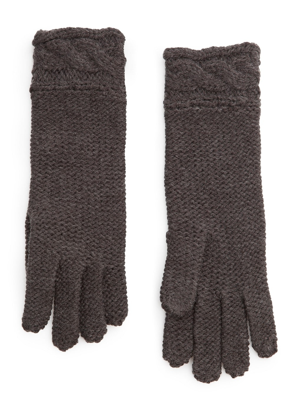 Cable-knit cuffs gloves | MANGO
