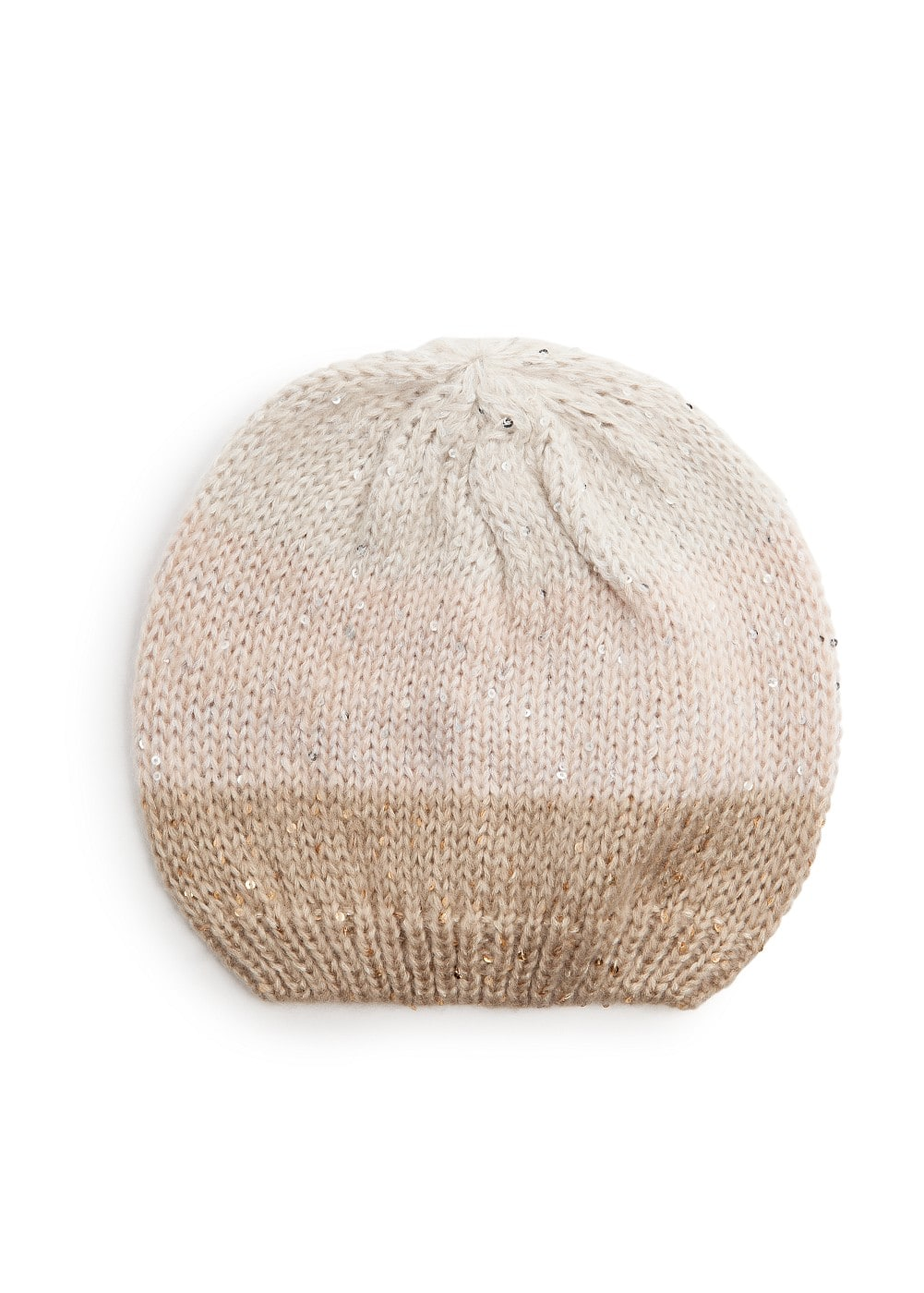Sequined tricolor beanie | MANGO