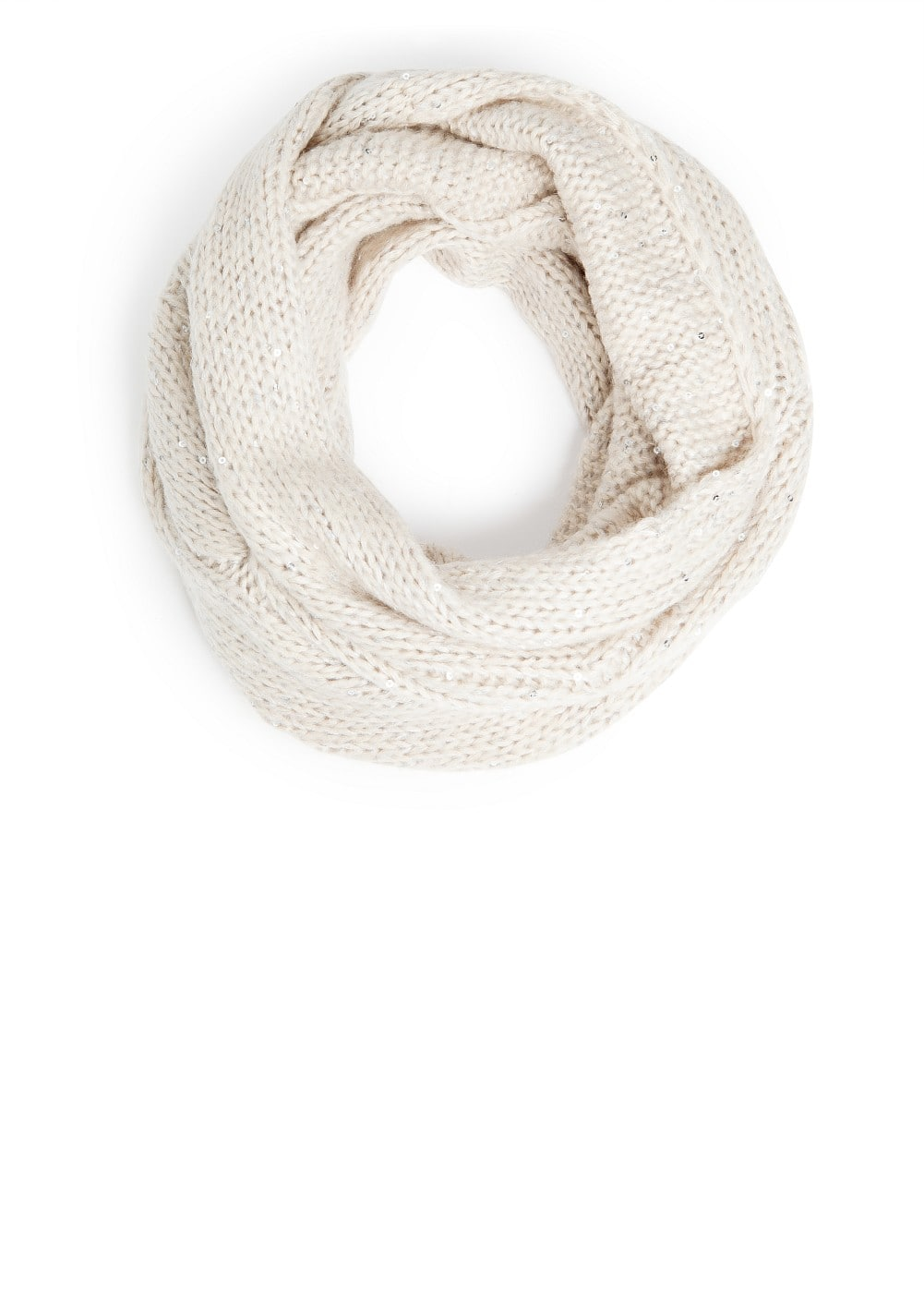 Sequined braid snood | MANGO