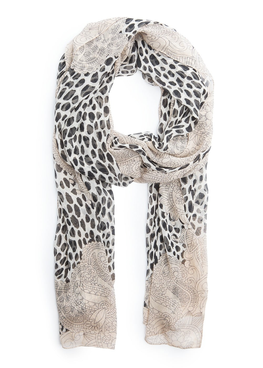 Animal print lightweight scarf | MANGO