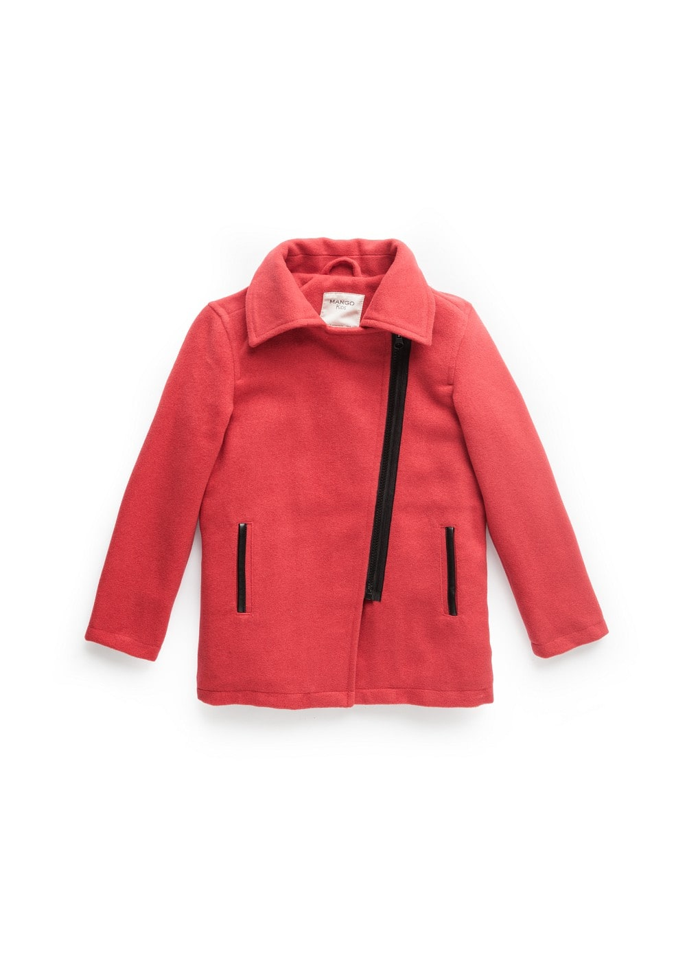 Contrast trimming biker coat | MANGO KIDS