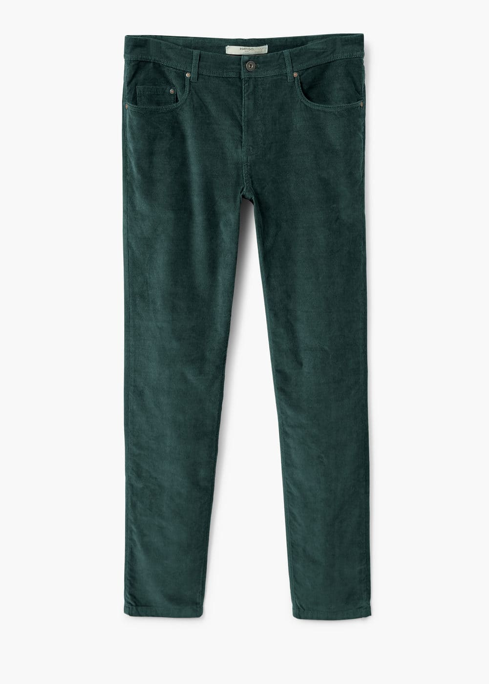 Cotton corduroy trousers | MANGO MAN