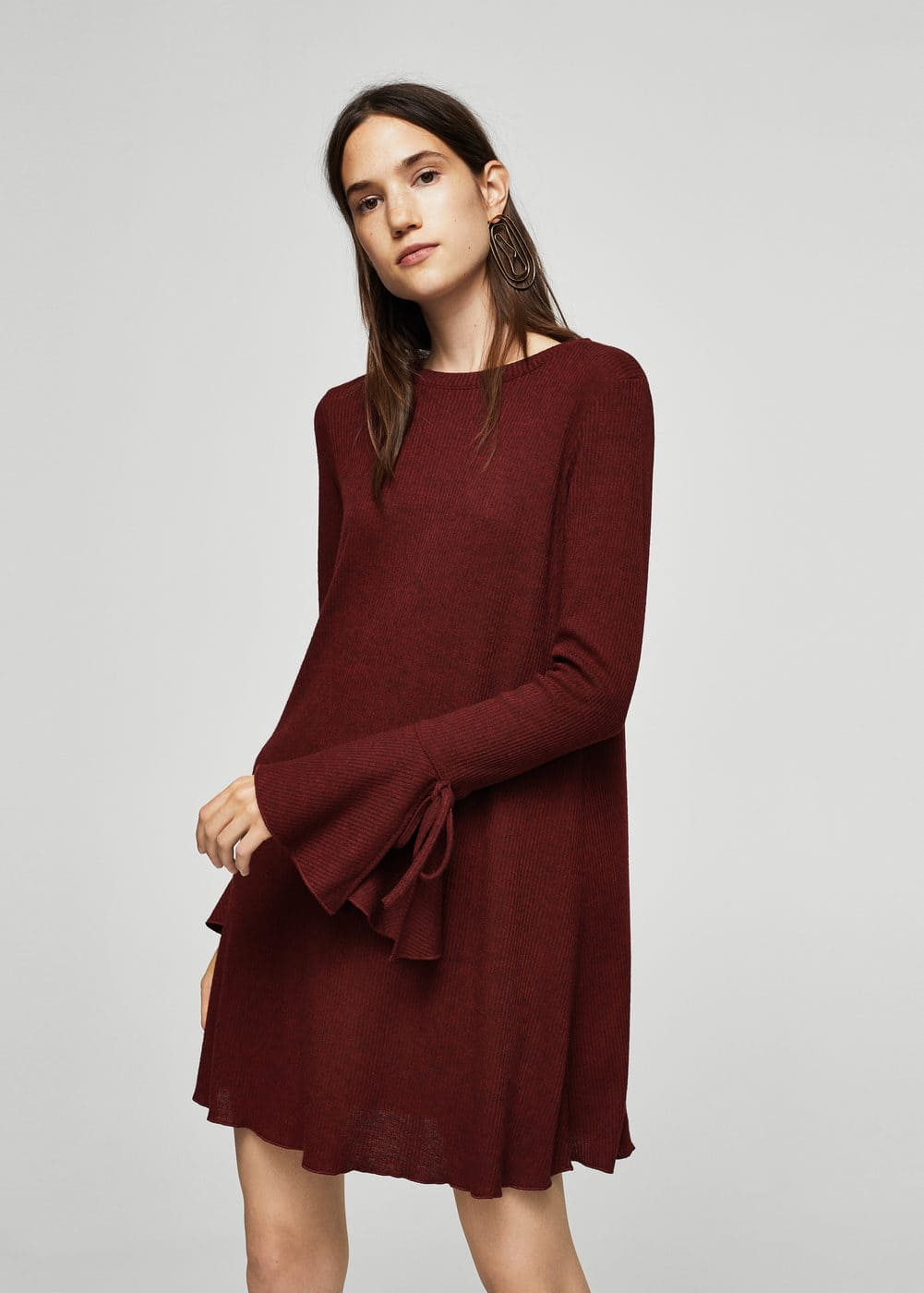 Sleeve detail dress | MANGO