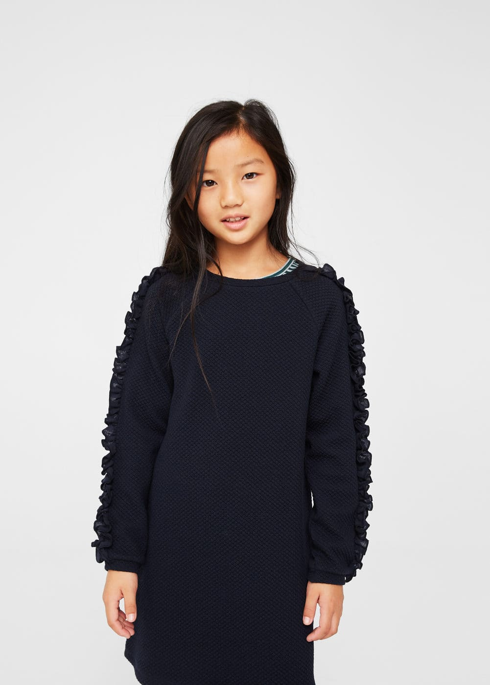 Textured ruffled dress | MANGO KIDS