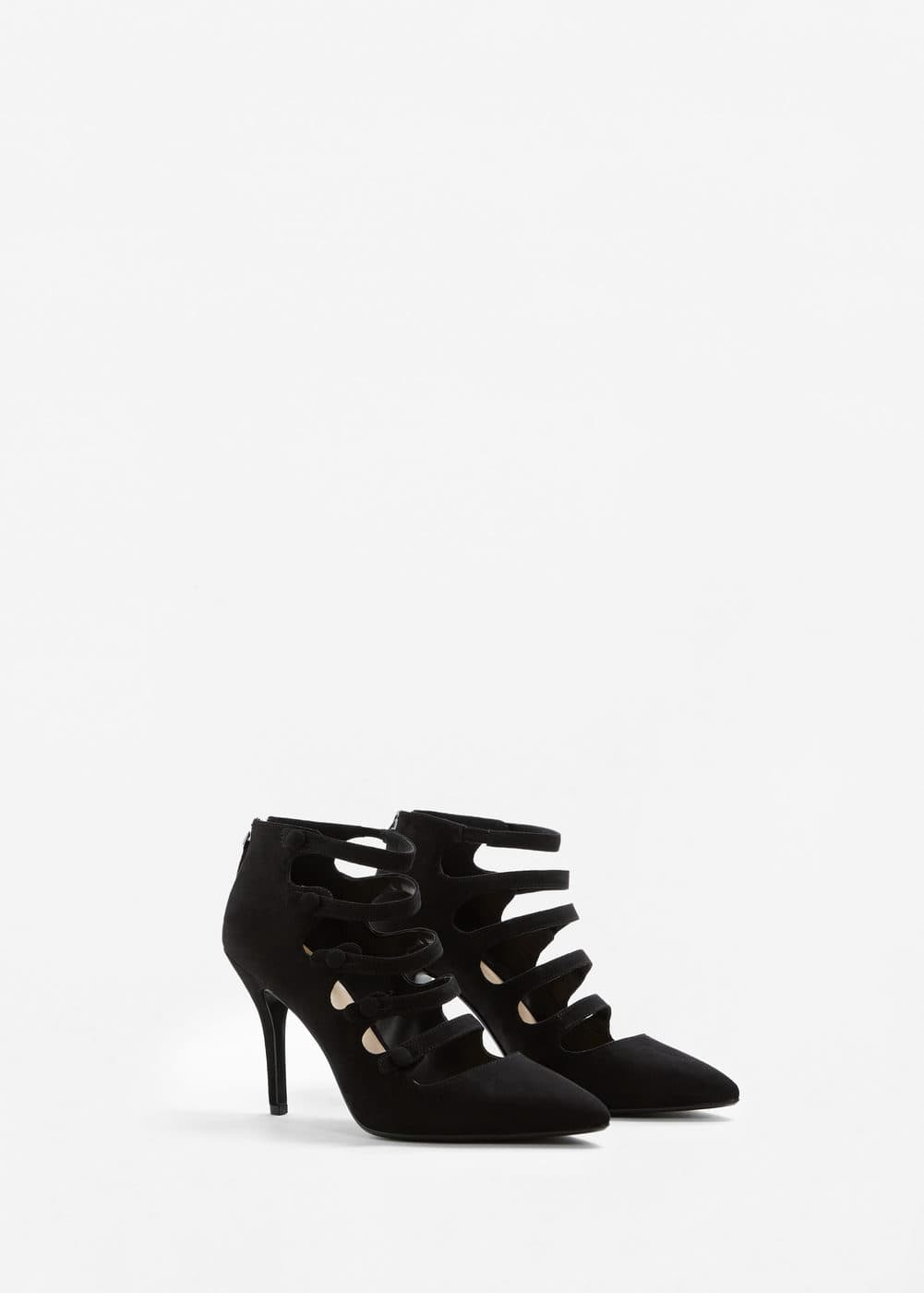 Heel buttoned shoes | MANGO