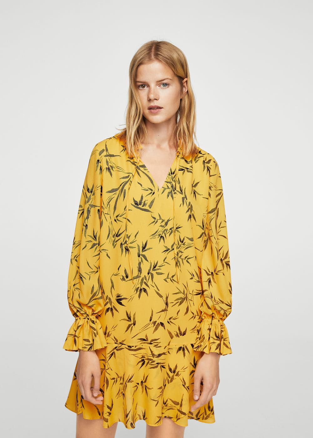 Ruffled printed dress | MANGO