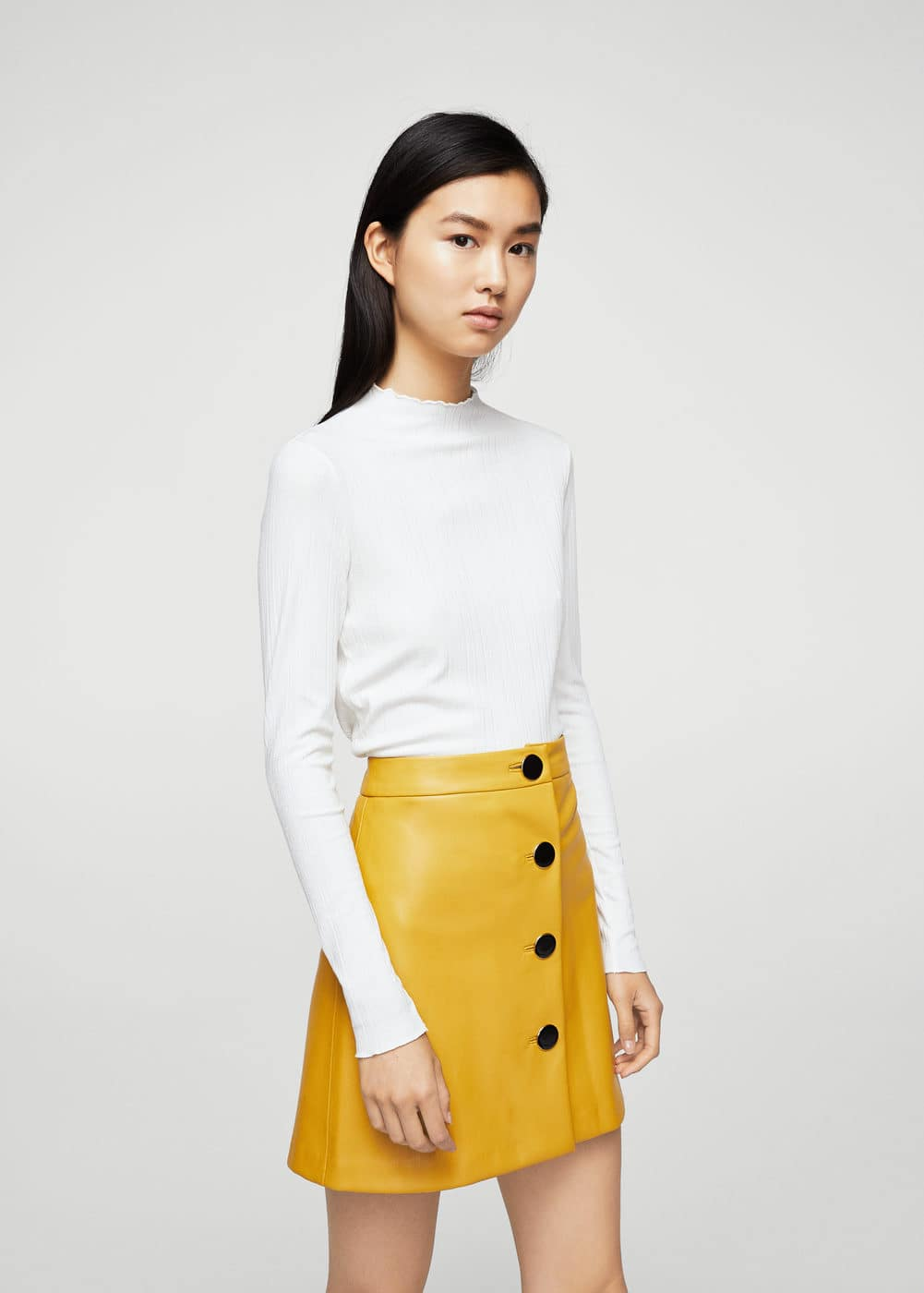Scalloped edges t-shirt | MANGO