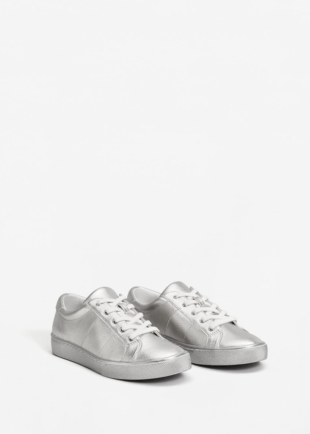 Metallic effect sneakers | MANGO