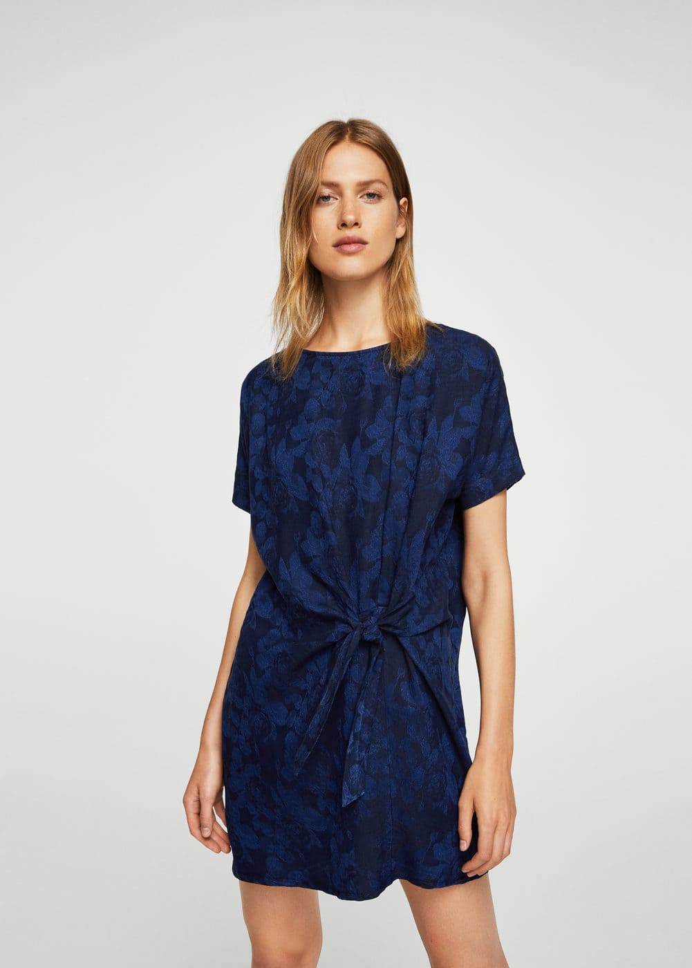 Bow jacquard dress | MANGO