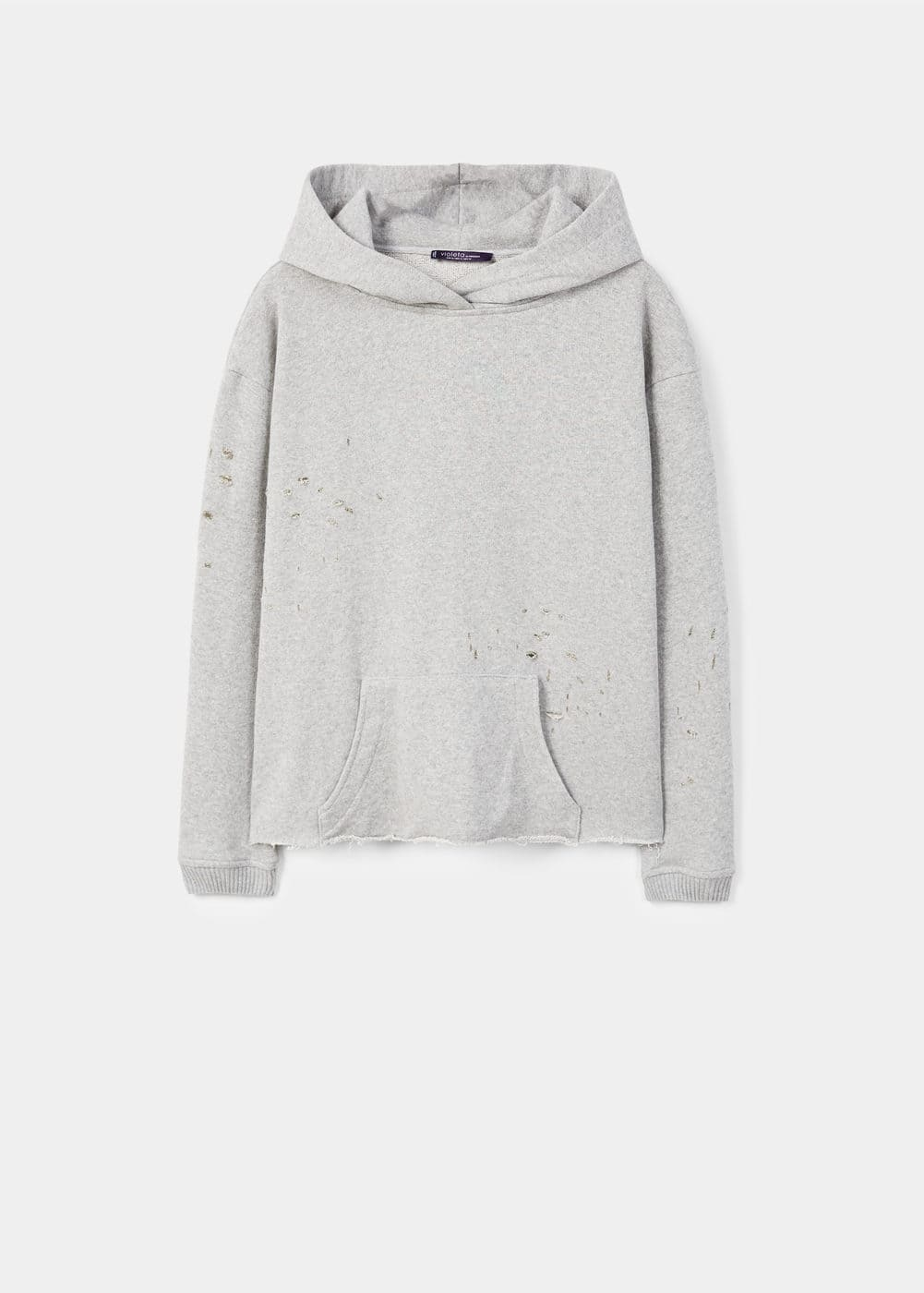 Decorative rips sweatshirt | MANGO