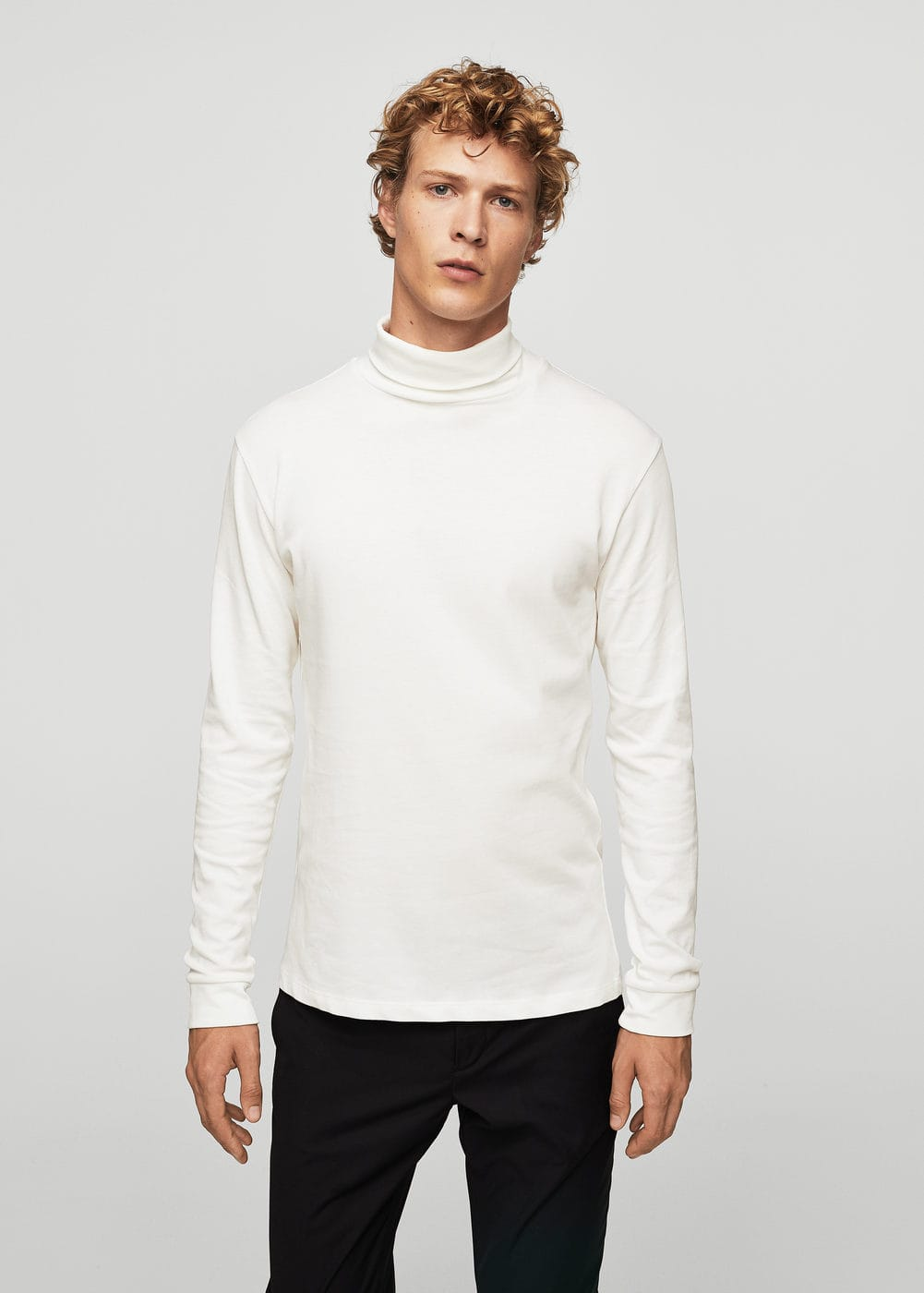 Essential cotton-blend sweater | MANGO MAN