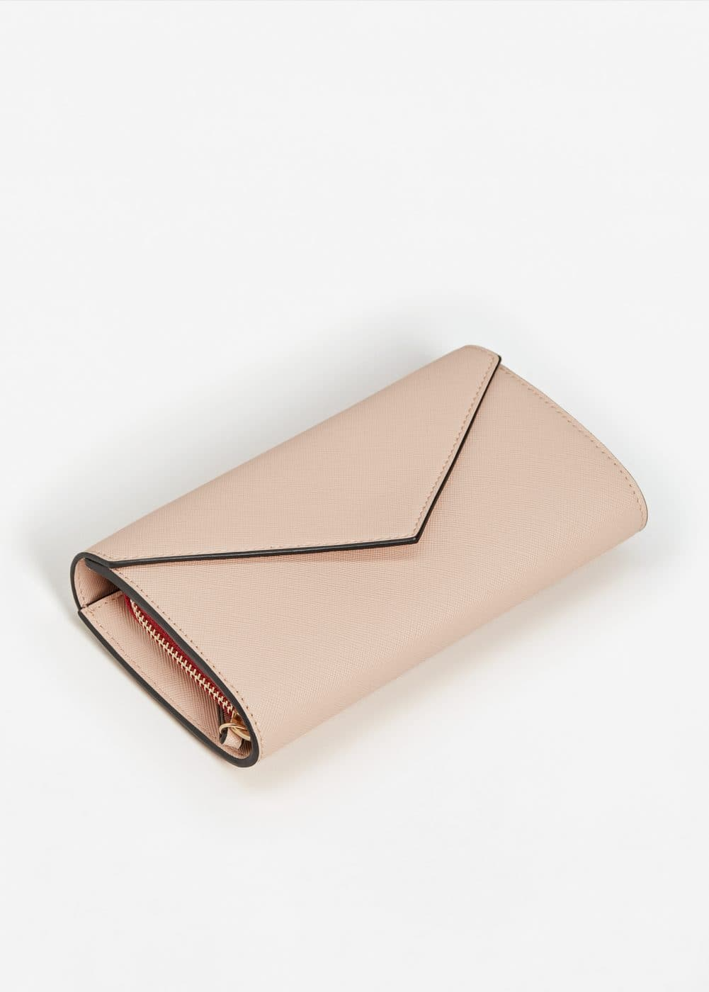 Flap saffiano-effect wallet | MANGO