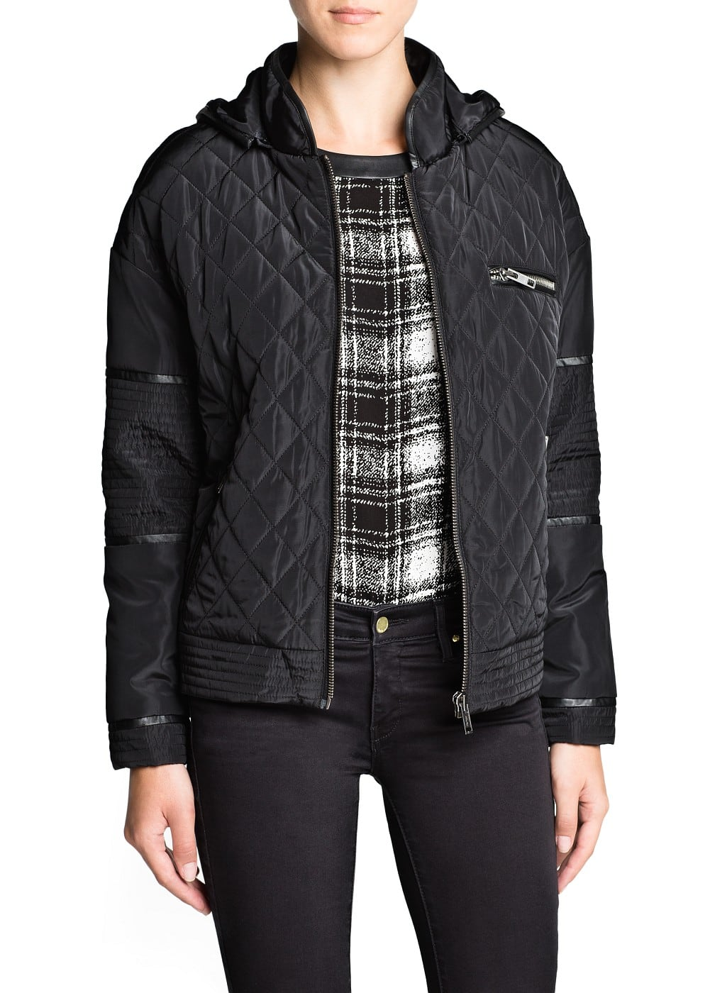 Hooded quilted jacket | MANGO