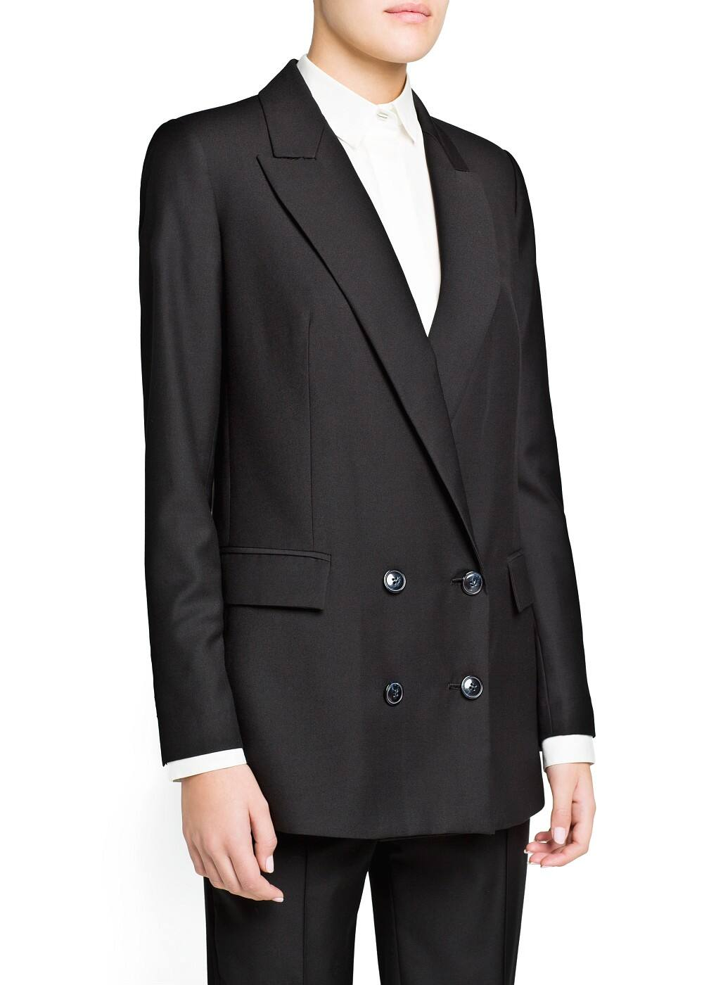 Double-breasted suit blazer | MANGO