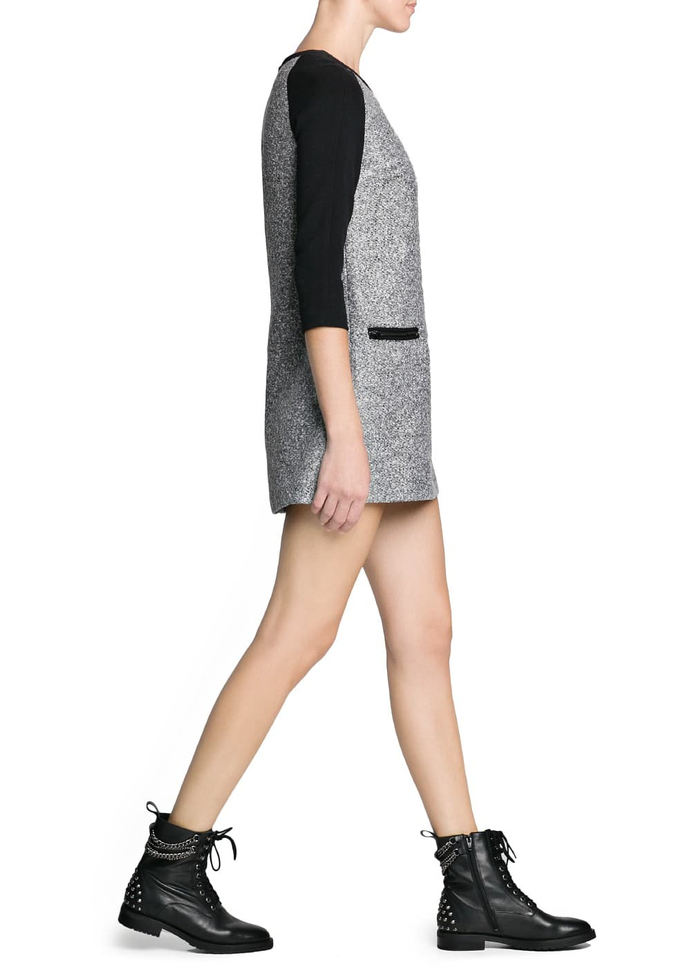 Bouclé wool-blend dress | MANGO