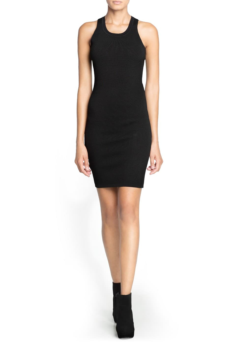 Cut-out detail bodycon dress | MANGO