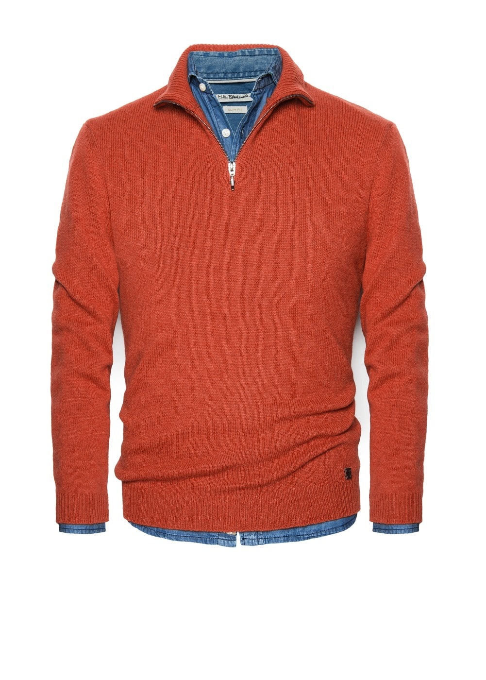 Suede elbow patch wool-blend sweater | MANGO MAN