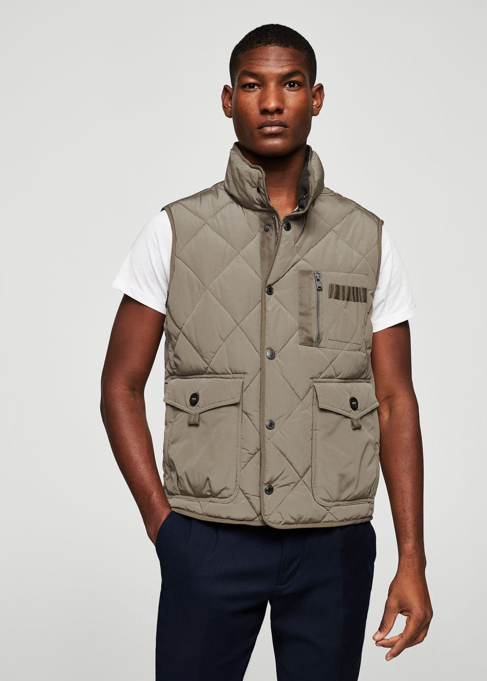 Quilted lightweight nylon gilet | MANGO MAN