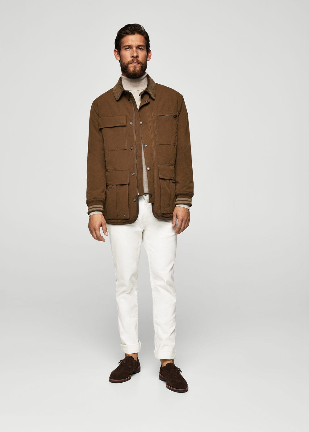 Cotton nylon-blend field jacket | MANGO
