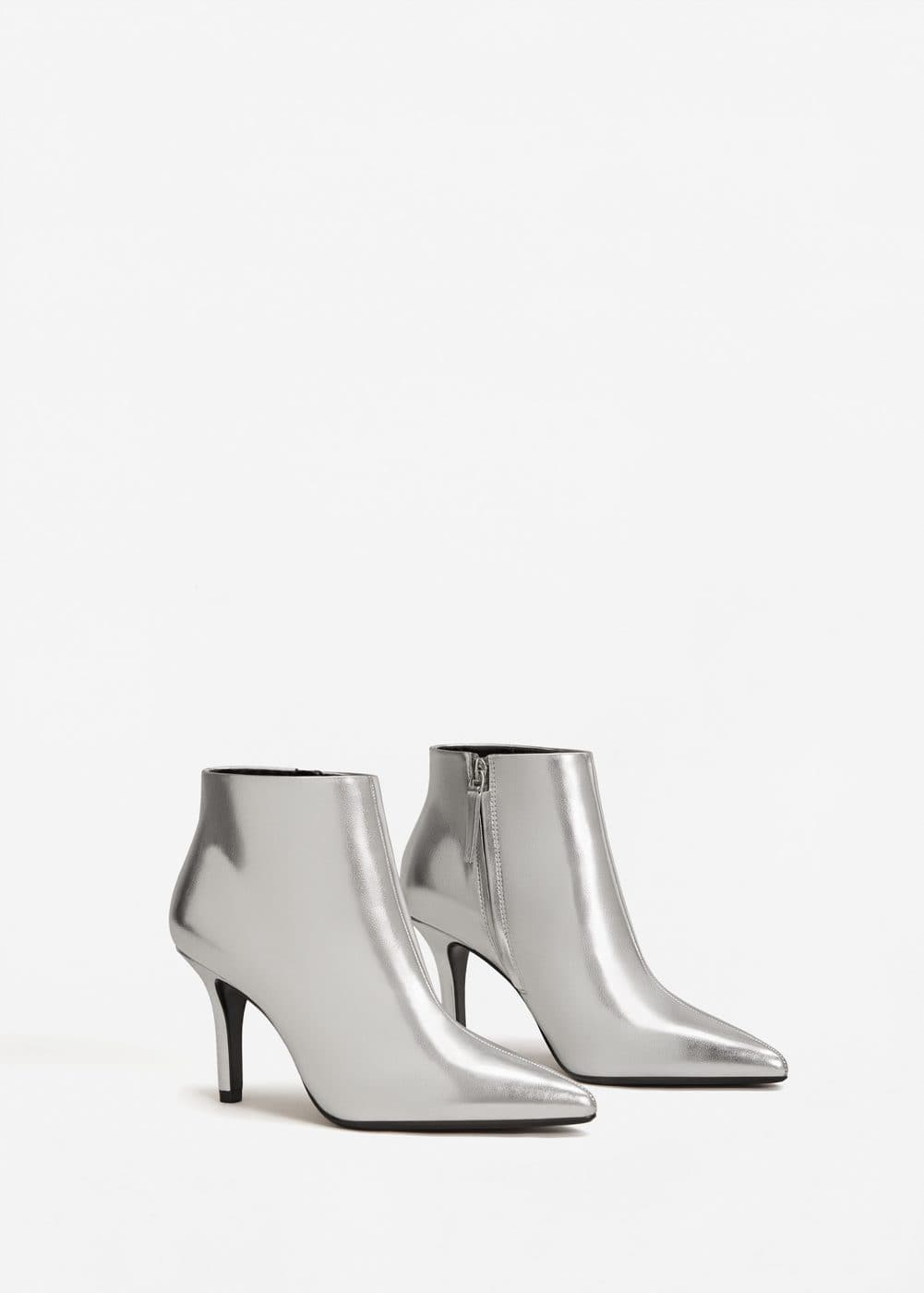 Metallic finish ankle boots | MANGO