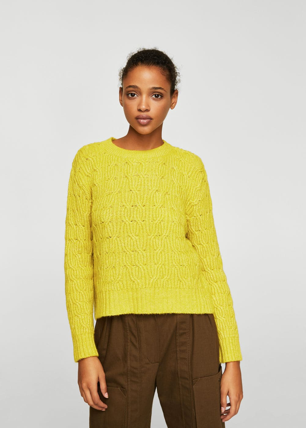 Cable-knit sweater | MANGO