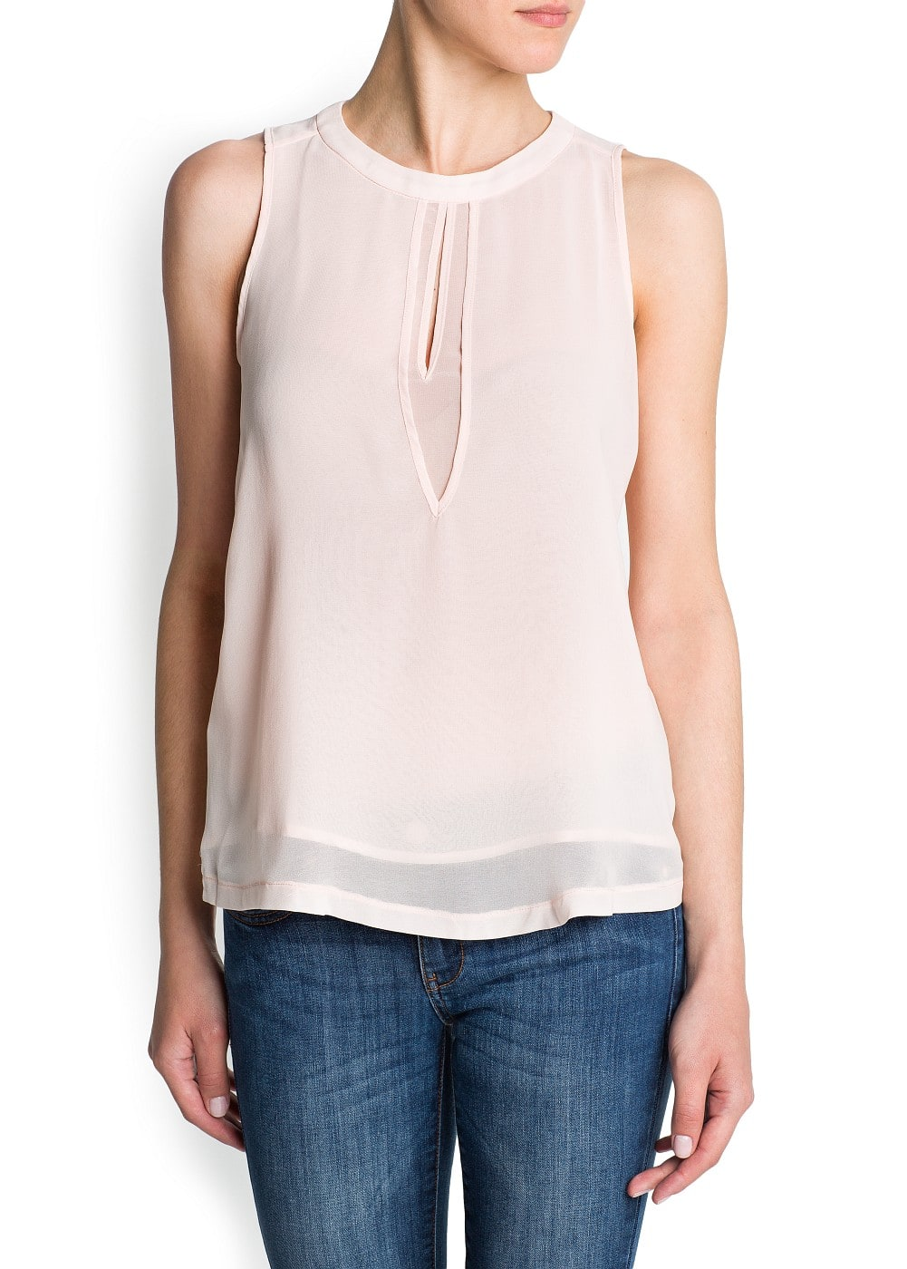 Double-layer chiffon blouse | MANGO