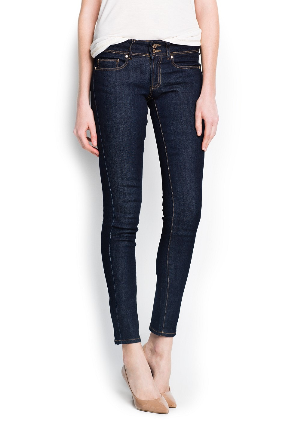 Slim-fit dark lizzy jeans | MANGO