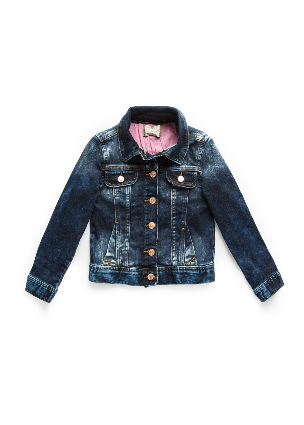 Distressed denim jacket | MANGO KIDS