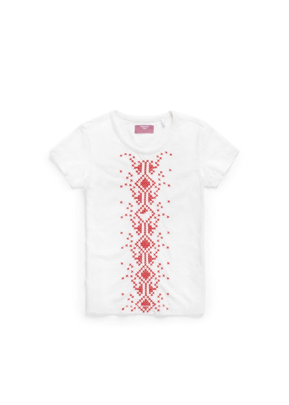 Cross-stitch embroidery t-shirt | MANGO KIDS