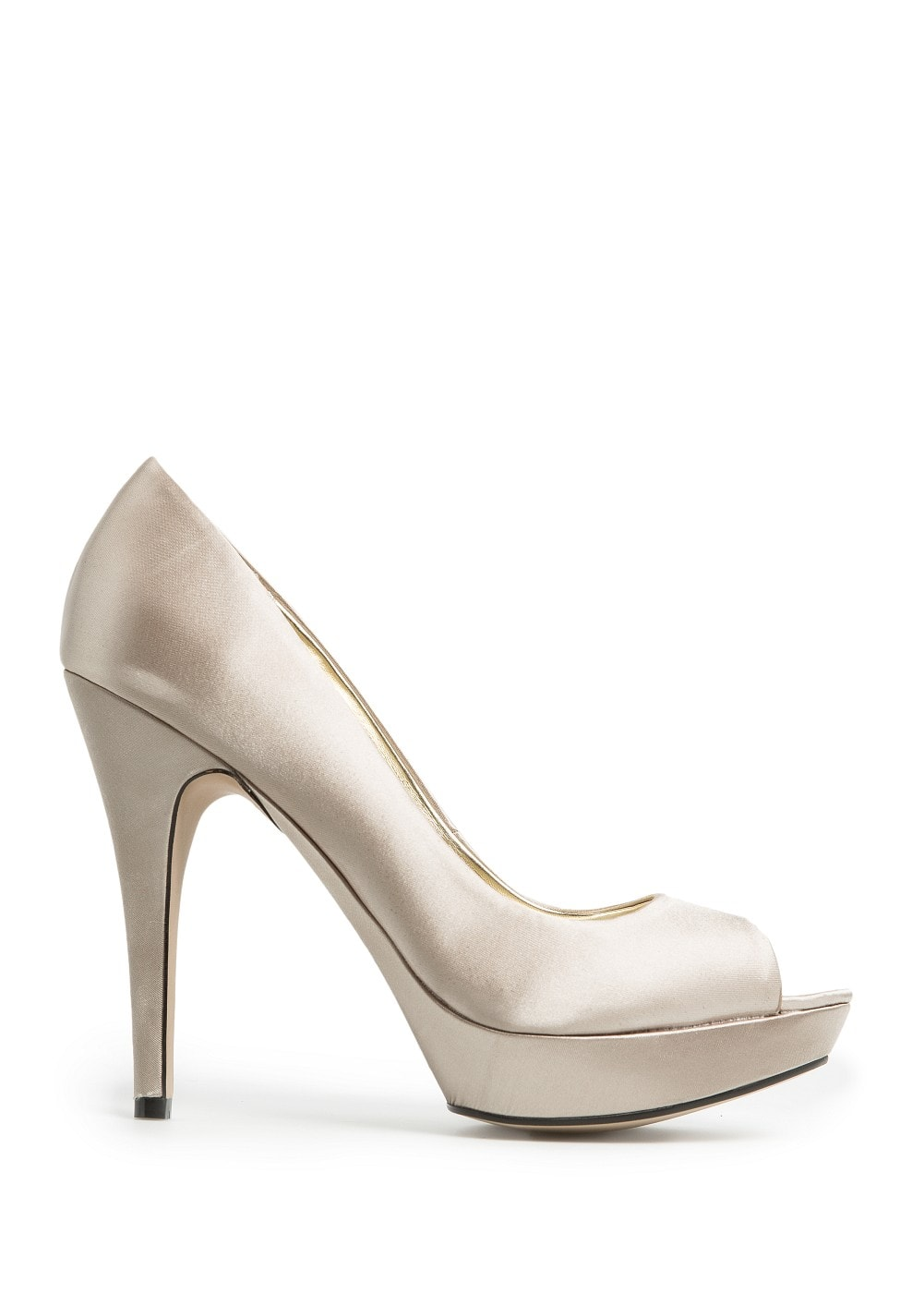 Satin-finish fabric peep-toe shoes | MANGO