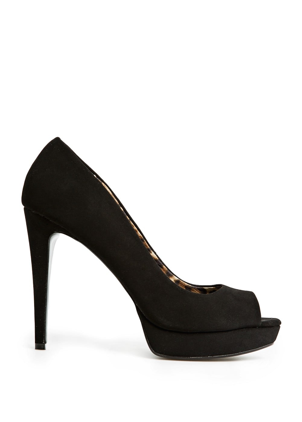 Suede effect peep-toe shoes | MANGO