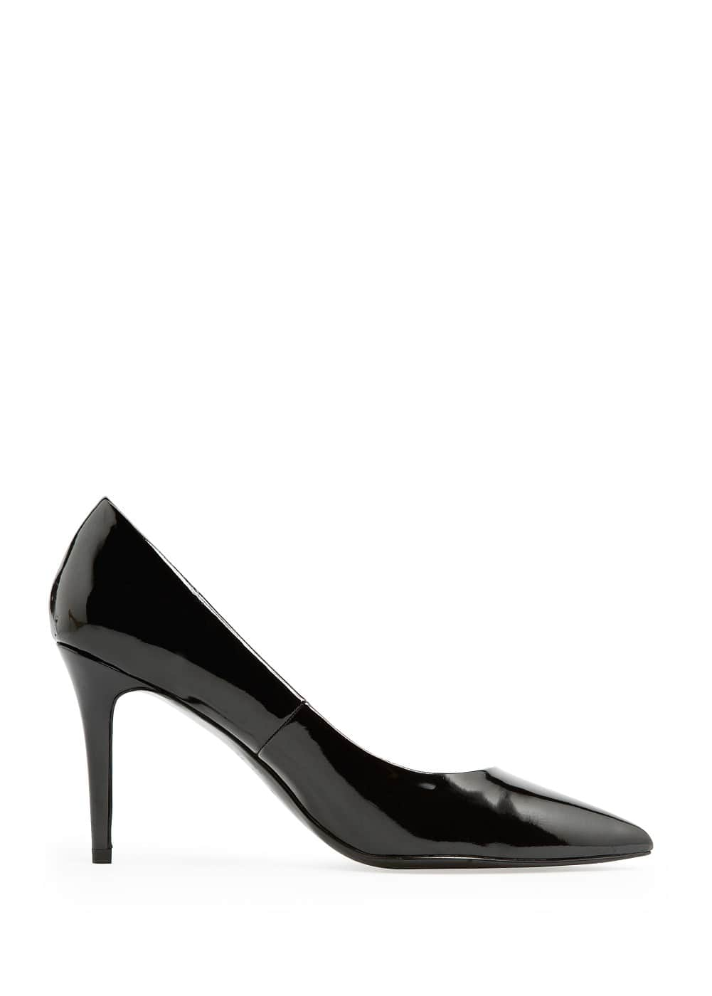 Patent stiletto shoes | MANGO