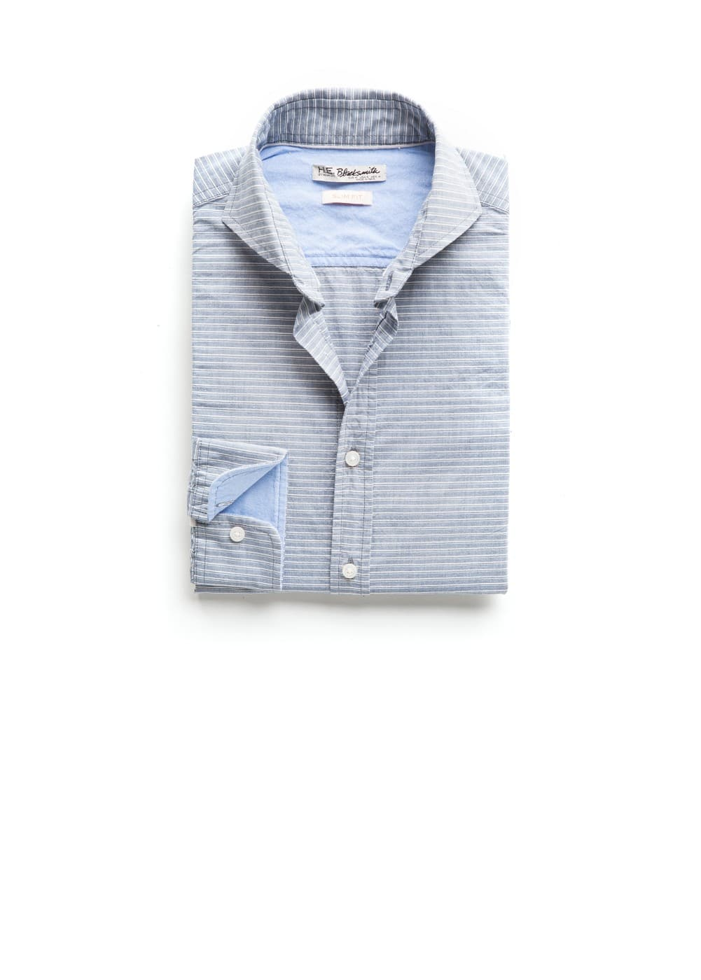 Slim-fit striped cotton shirt | MANGO