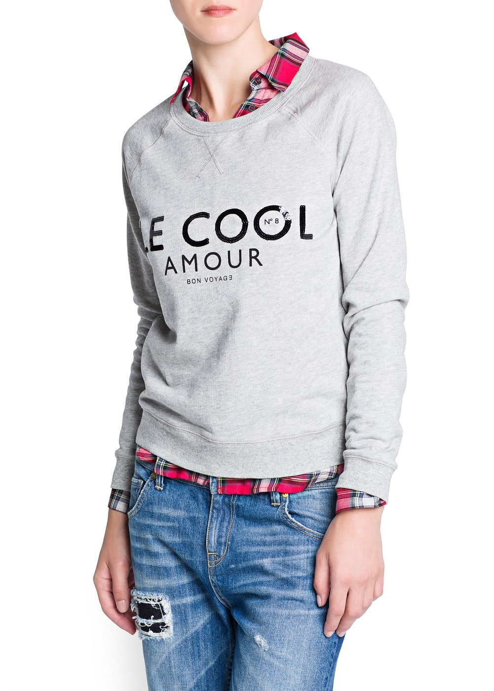Sequined letters sweater | MANGO