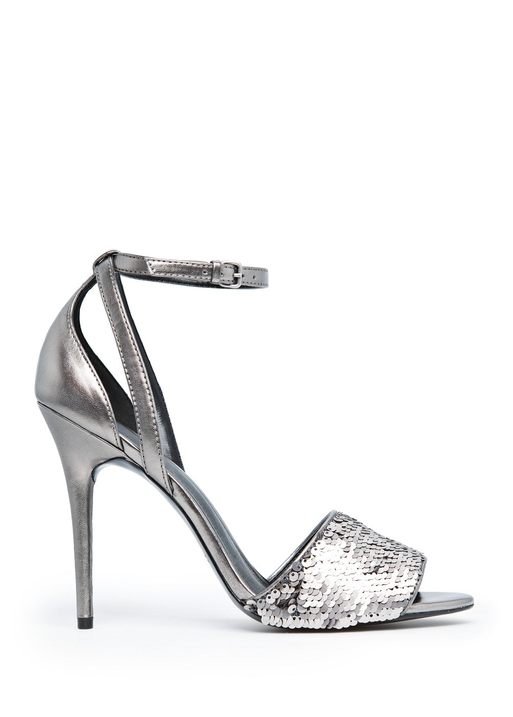 Sequined metallic sandals | MANGO