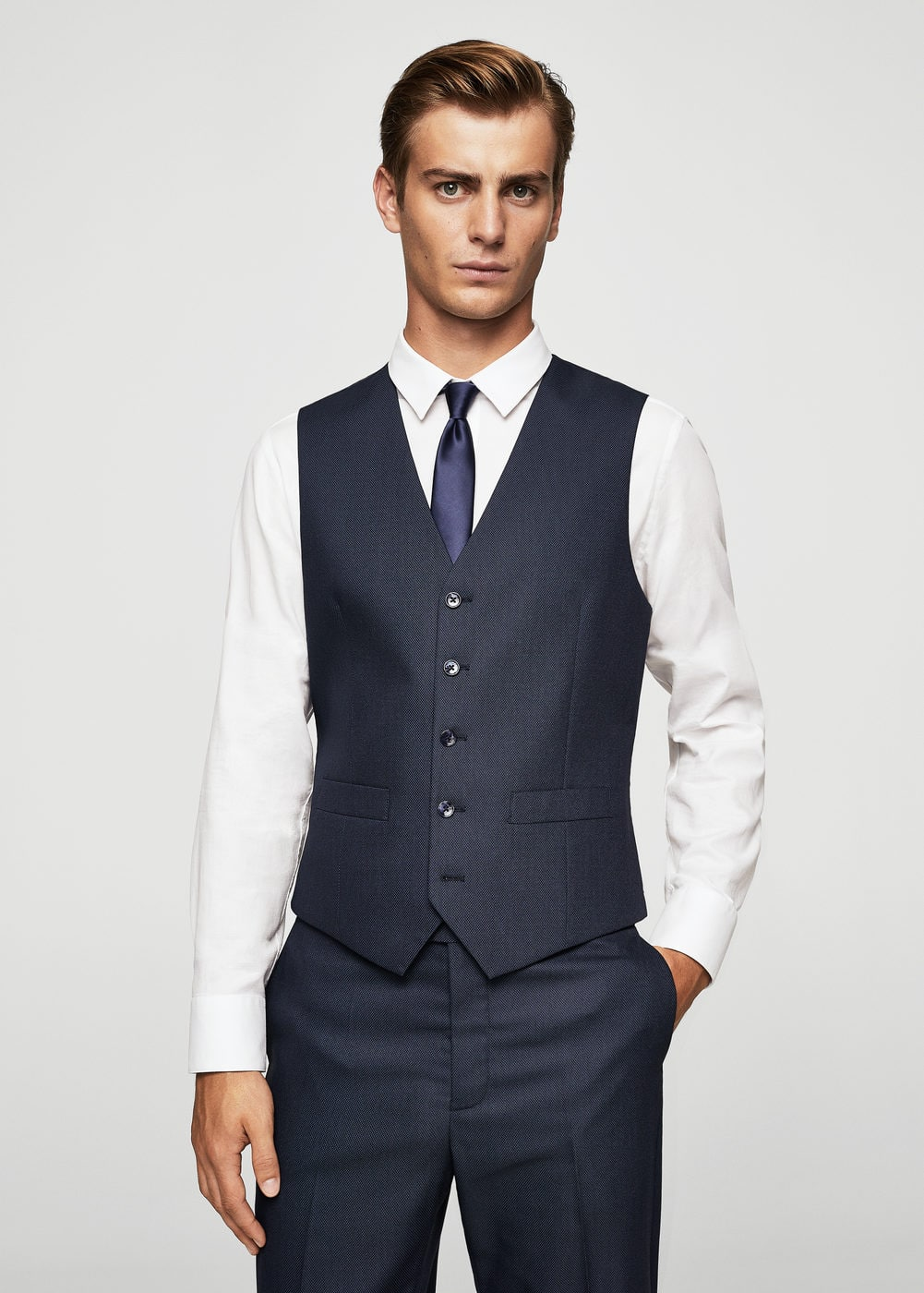 Slim-fit suit gilet | MANGO MAN
