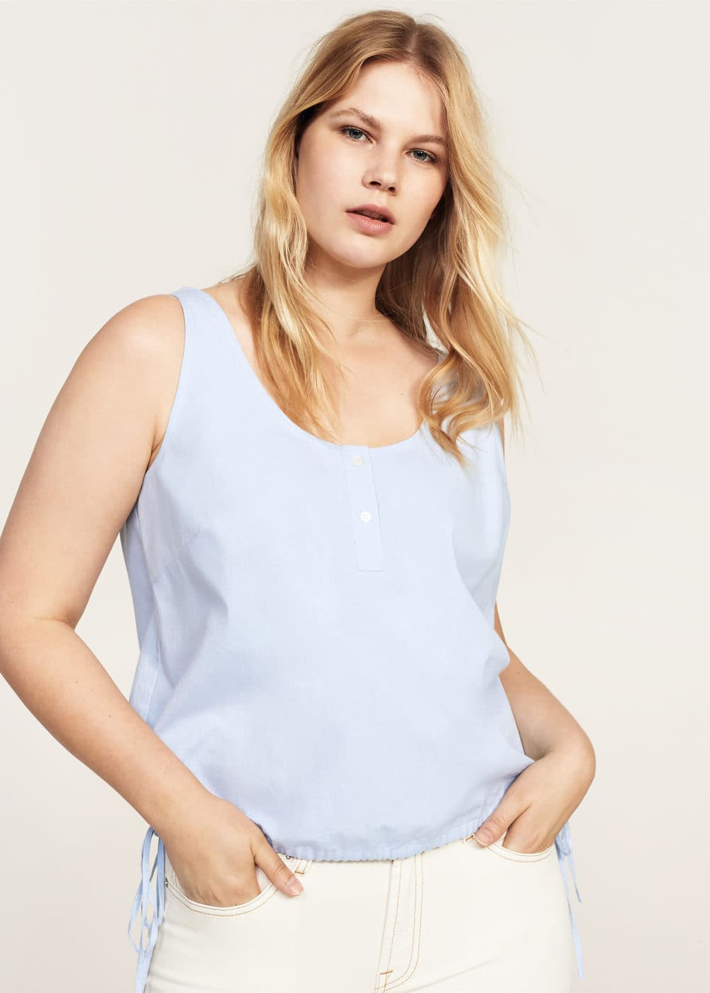 Adjustable cord blouse | VIOLETA BY MNG