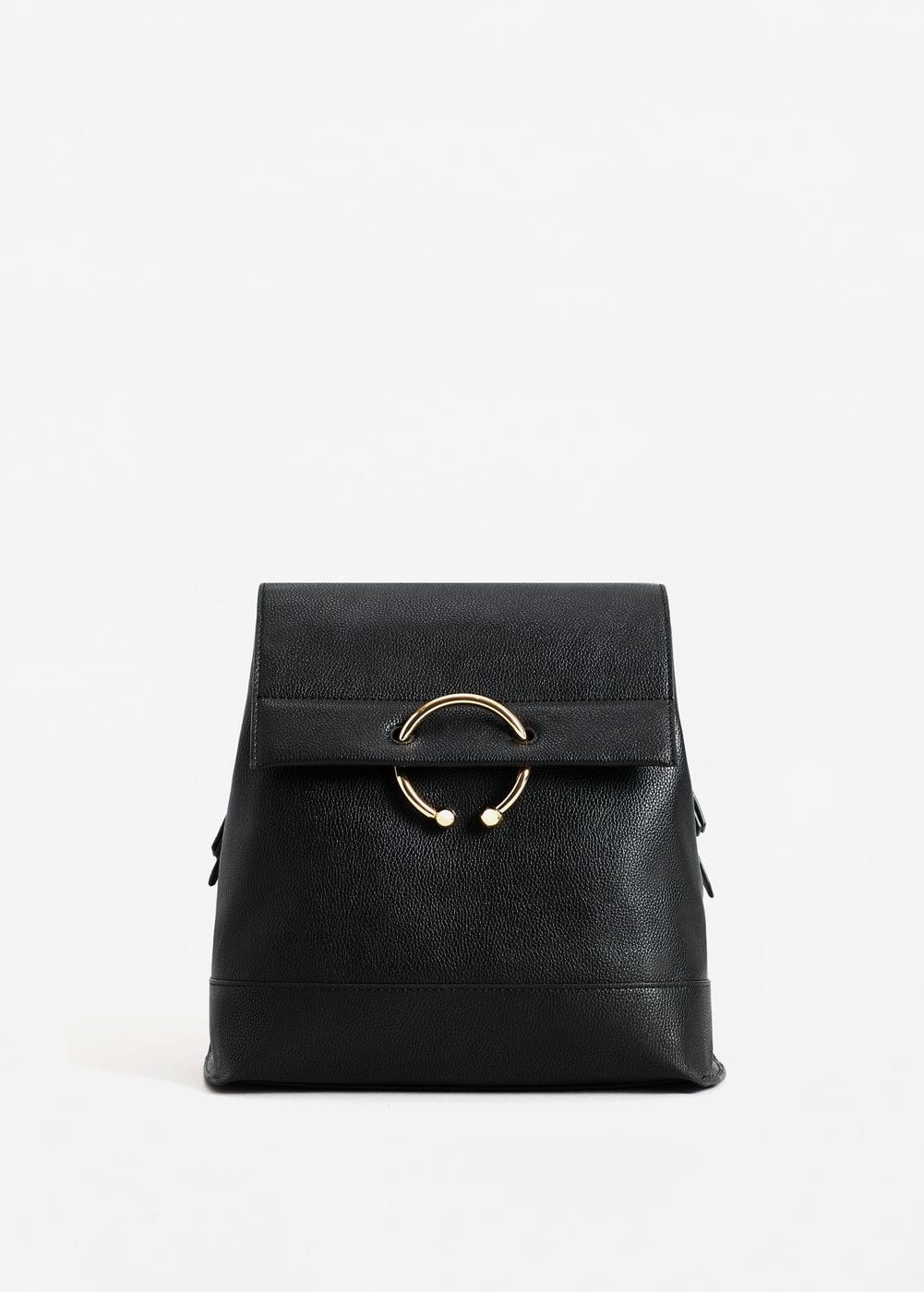 Pebbled ring backpack | MANGO