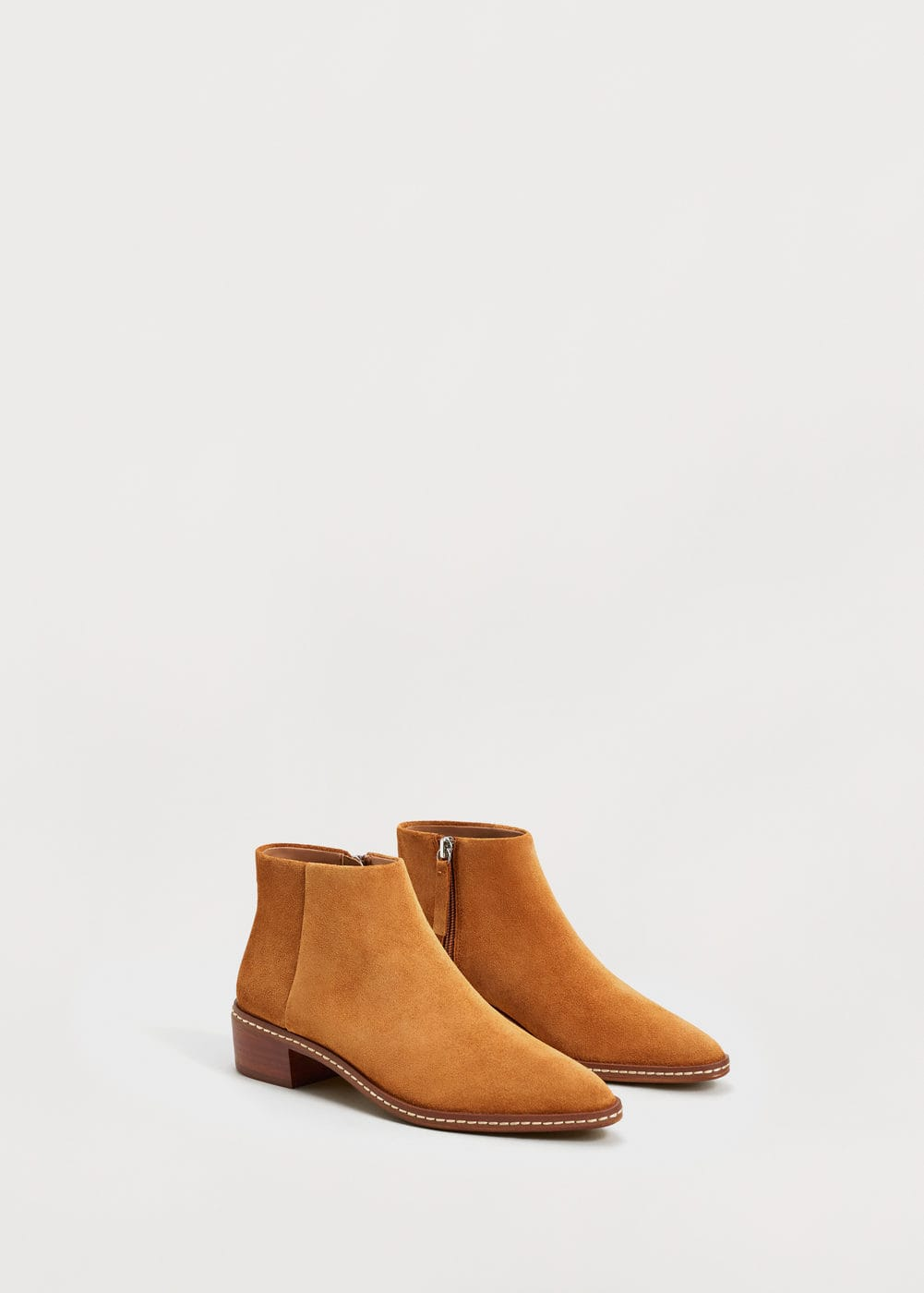 Suede ankle boots | VIOLETA BY MANGO