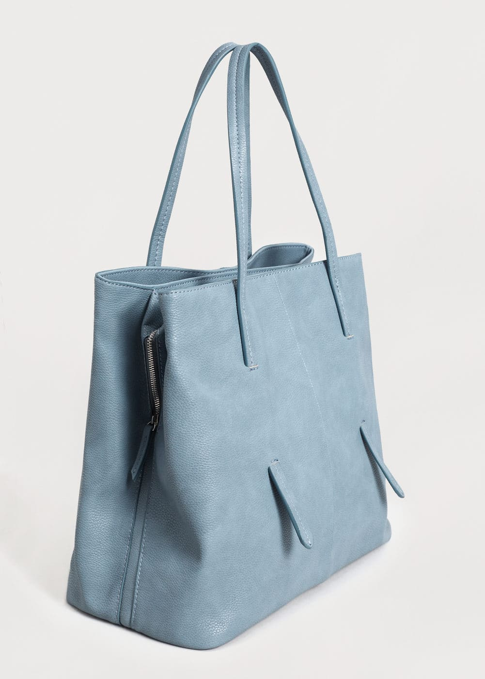 Pebbled shopper bag | VIOLETA BY MNG